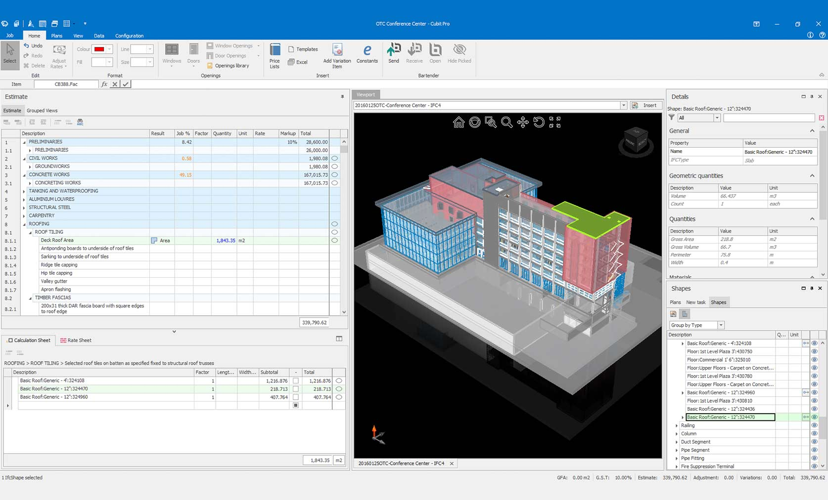 Natural Estimating for your BIM Takeoff.