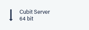 Cubit Server 64 bit button